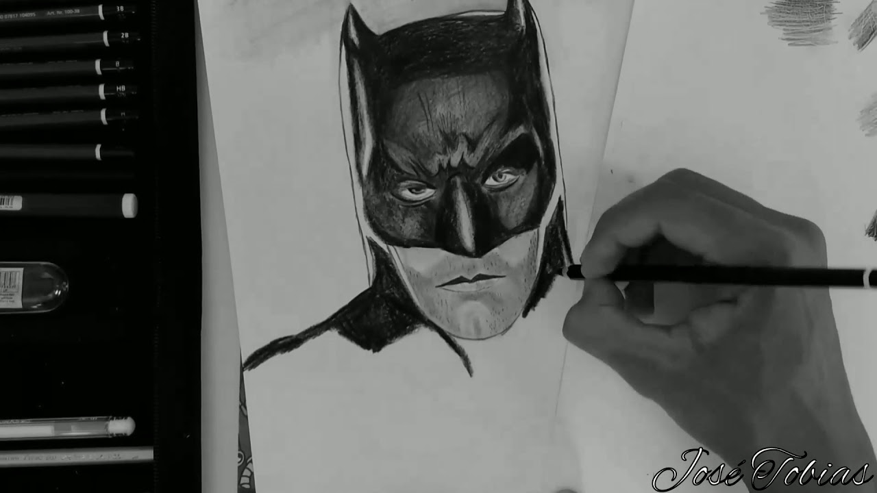 Desenho Do Batman Hiper Realista Youtube