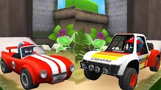 MUSCLE ROADSTER vs TROPHY TRUCK / Kids Game Mini Racing Adventures Android Gameplay