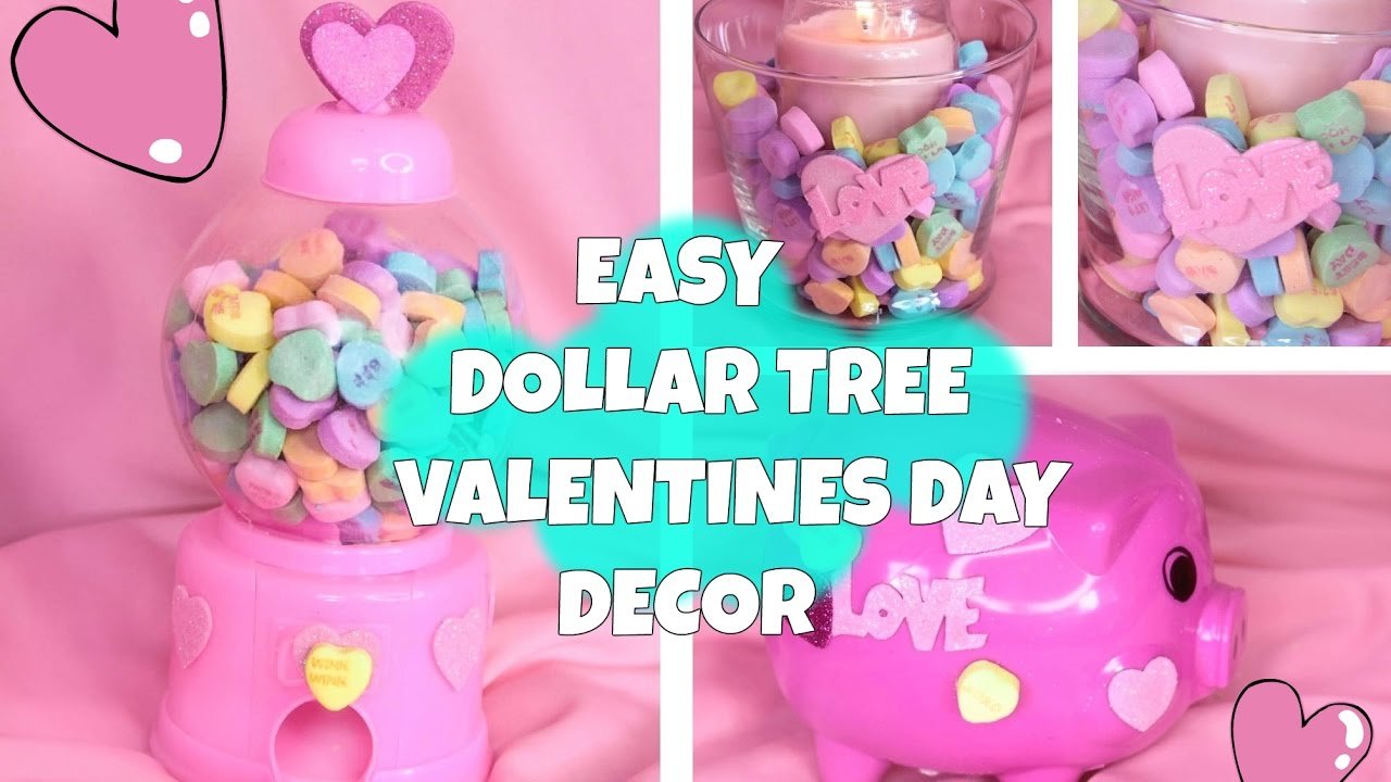 4 Easy Dollar Tree Valentine S Day Decorations Youtube