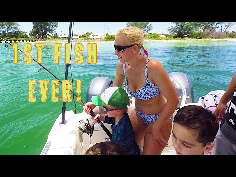 5yr olds catch 1st Stingrays   Anna Maria Island