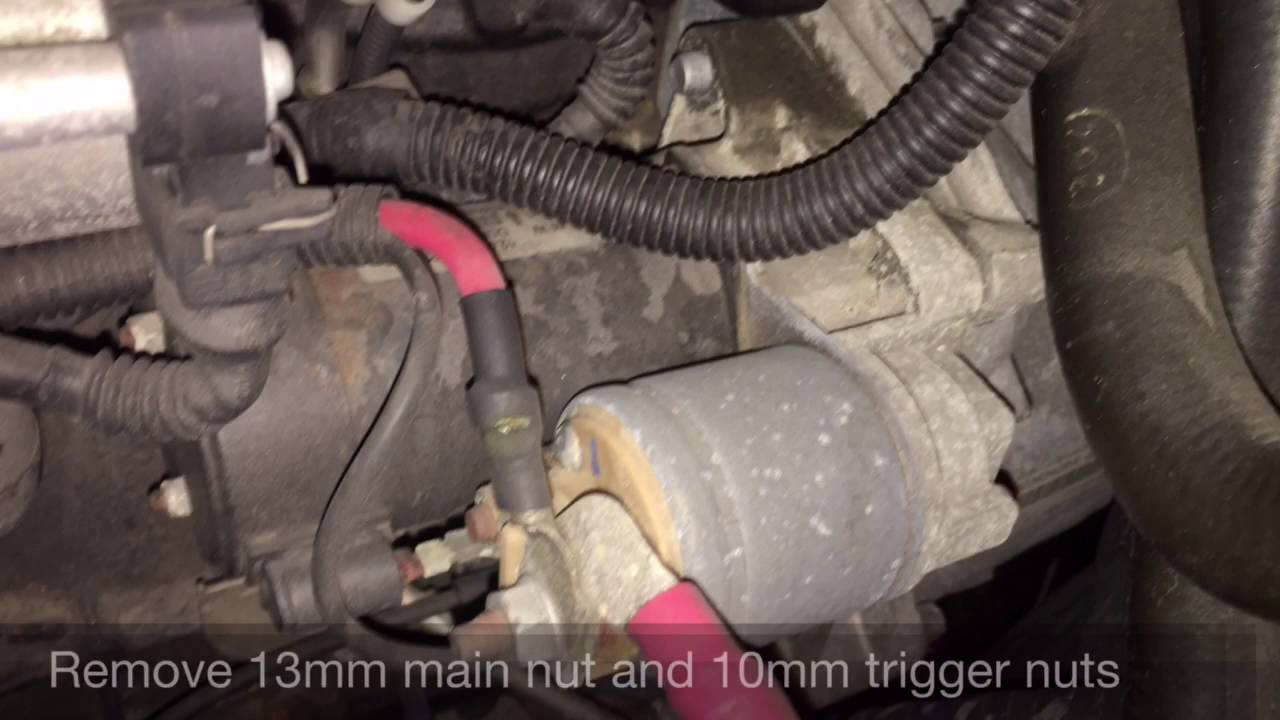 bmw e46 m3 s54 starter replacement DIY w cold start  YouTube