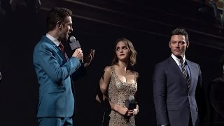 Beauty and the Beast Shanghai Cast Interview - Emma Watson, Dan Stevens, Luke Evans, Josh Gad