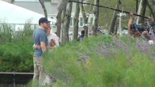 @DonnieWahlberg, Amy Carlson and kid casts filming #BlueBloods at the Battery park