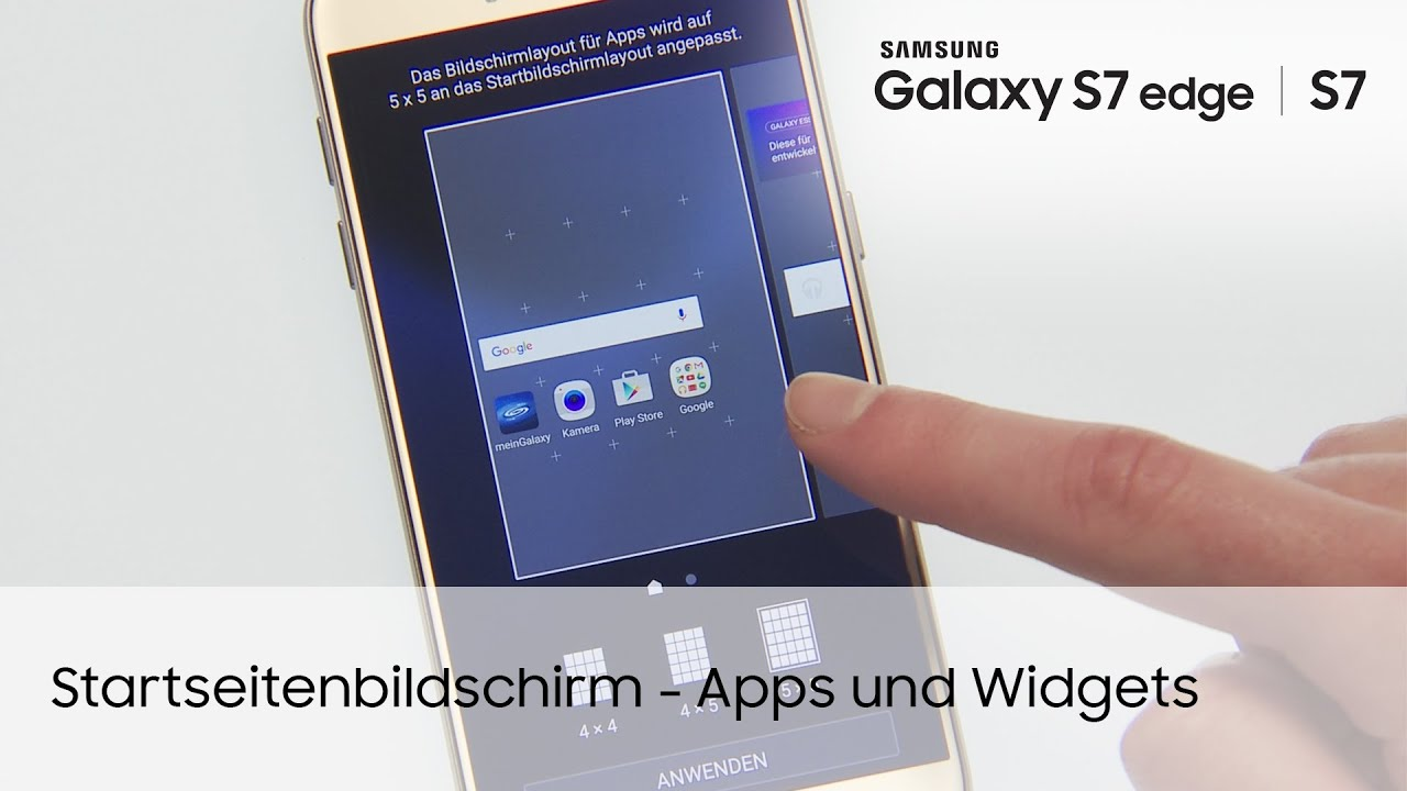 Samsung Galaxy S7 S7 edge Startbildschirm – Apps und Wid s