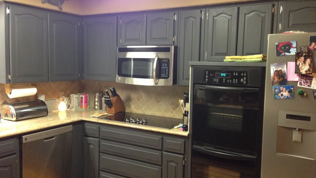 Respray Kitchen Cabinets Marvelous Painting Kitchen Cabinets With Chalk Paint Youtube