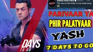race 3 7 days to go for release motion poster review bobby deol in as yash