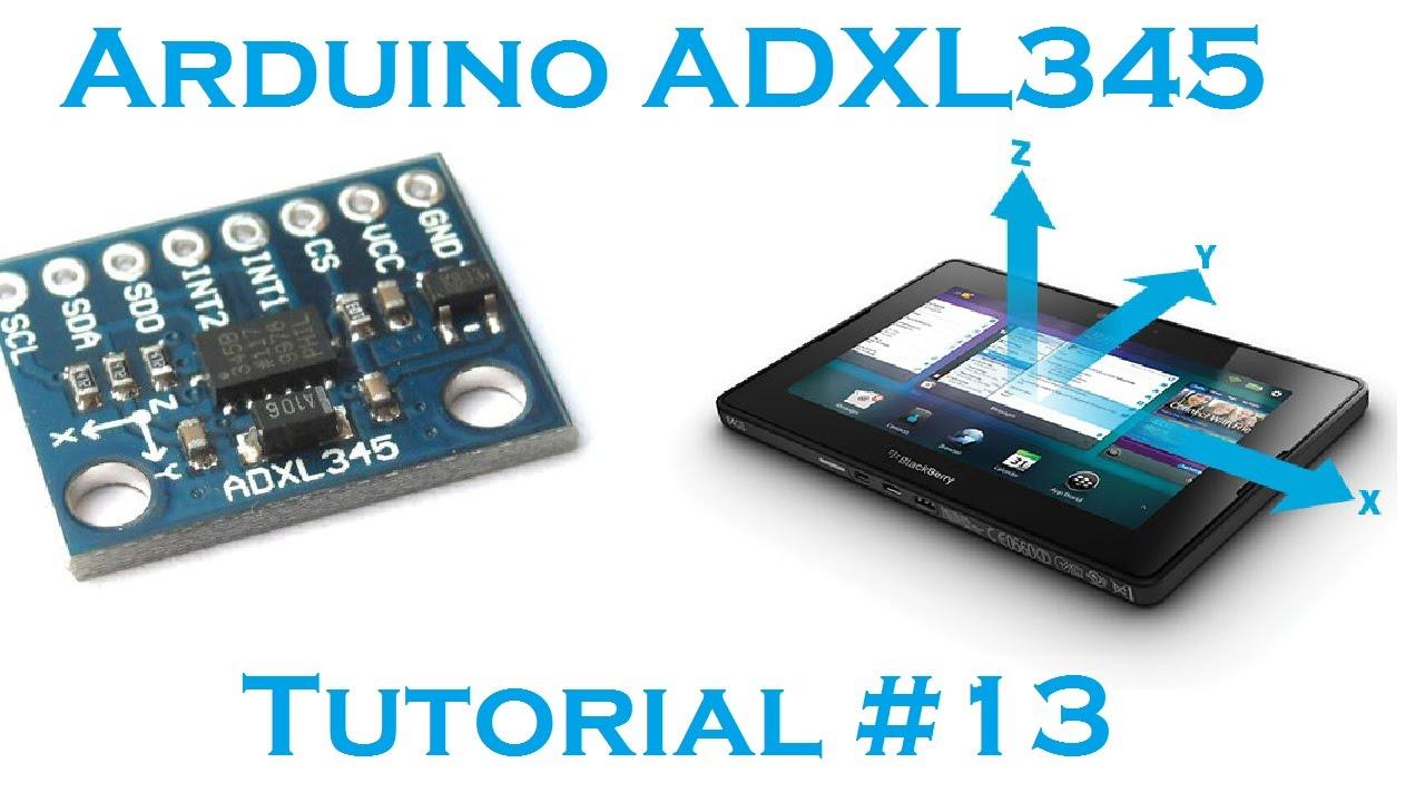 Arduino axis accelerometer adxl robots