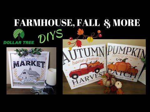 Dollar Tree DIY Farmhouse, Fall, & More Decor