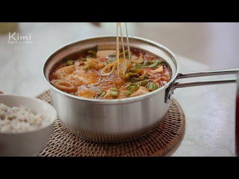 집밥 : 참치 김치찌개 Korean Food, Kimchi Stew(Jjigae) Recipe with tuna : 키미(Kimi)