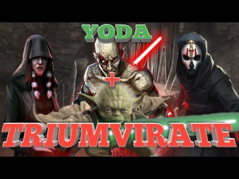 Yoda's with Triumvirate is AMAZING!!!  star wars galaxy of heroes swgoh