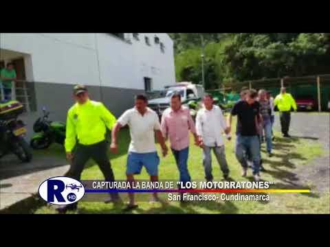 """Captura de la banda """"Los Motorratones"""" en San Francisco de Sales, Cundinamarca"""