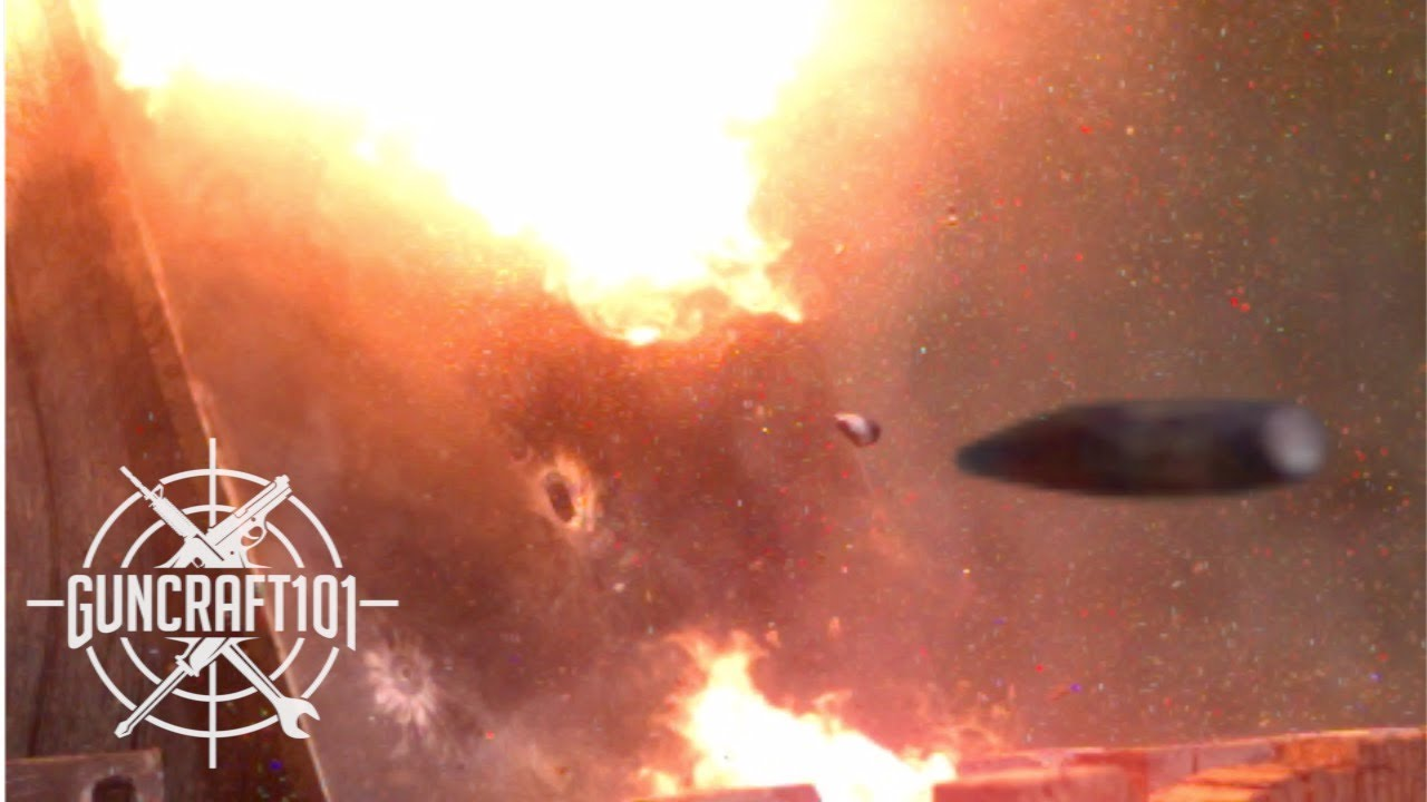 Shooting Steel In Slow Motion.  Incendiary Is Amazing!  GunCraft101