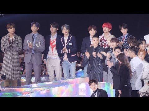 181201 방탄소년단(BTS),아이콘,비투비 - 여자아이들 신인상수상소감 Reaction [4K]  직캠 by Mera