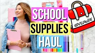 Back to School Supplies Haul 2016 + GIVEAWAY!