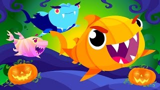 Baby Shark's Halloween | Halloween Songs | by Little Angel ...