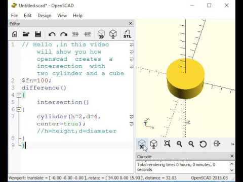 OpenSCAD tutorial: Intersection