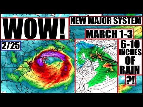 ANOTHER MAJOR Weather System to FLOOD TEXAS NORTHEAST Earthquake Papua New Guinea UPDATE