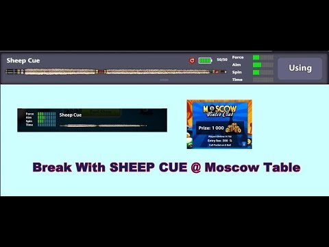 Sheep Cue Break at Moscow II Miniclip 8 Ball Pool