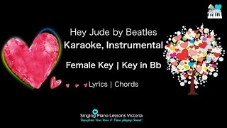 Hey Jude Beatles - Karaoke, Instrumental in Female Key
