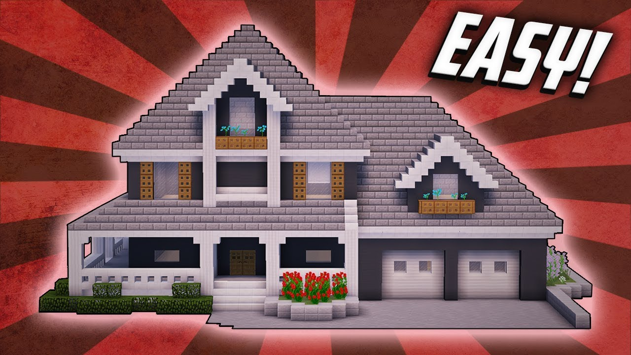 Minecraft How To Build A Suburban Mansion House Tutorial 4