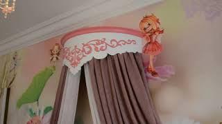 Выбираем мебель для детской. Видео обзор мебели для девочки. Фасады МДФ крашеный.