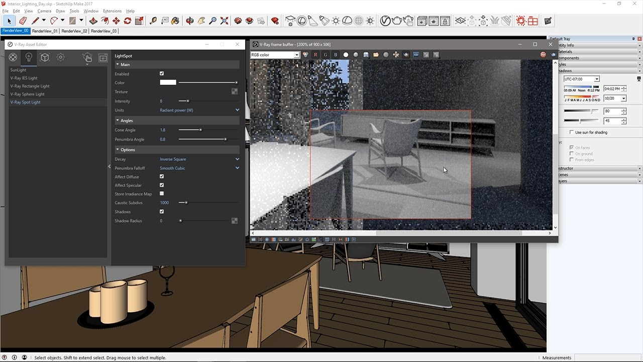 V-Ray for SketchUp – Quick Start: Interior Lighting