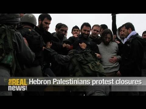 Hebron Palestinians protest closures