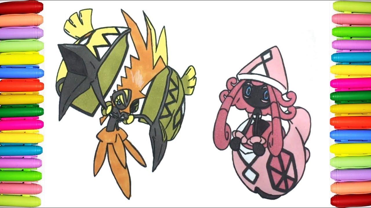 Pokemon Coloring Pages Tapu Koko And Tapu Lele Youtube