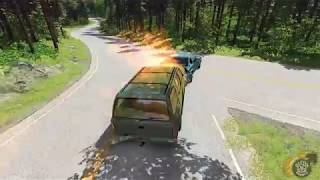 Extreme Road Rage Chase and Crash in BeamNG