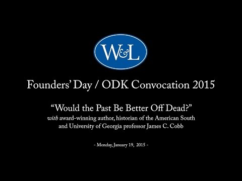 Founders' Day / ODK Convocation 2015 with James C. Cobb