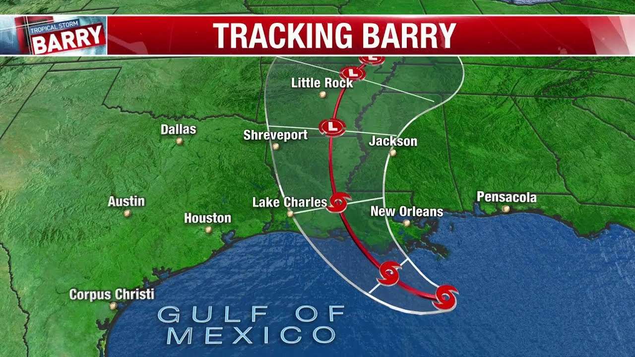 Hurricane Barry: Live videos, webcams show the storm's landfall