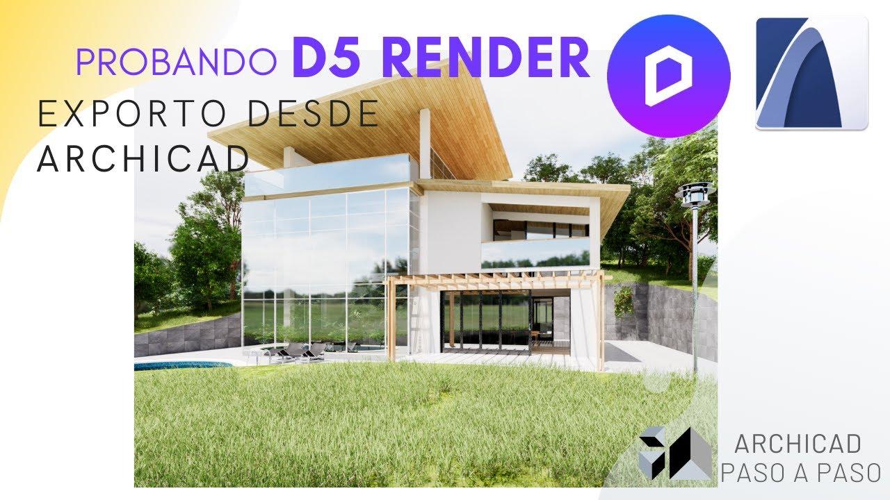 Nuevo RENDERIZADOR REALISTA GRATIS? | Pruebo D5 RENDER exportando modelo desde ARCHICAD | 2020 🏠🔥