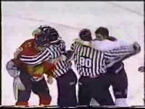 Hockey Fight - Bob Probert Vs. Scot Parker