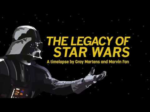 The Legacy of Star Wars Timelapse