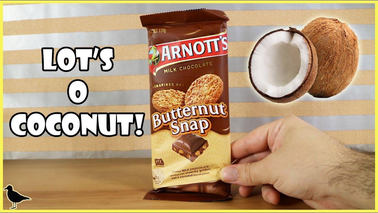 Arnott S Butternut Snap Chocolate Chocolate Block Food Tasting Review Birdew Reviews Youtube
