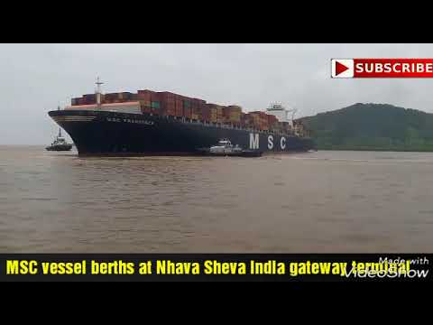 Ship berths at nhava sheva India gateway terminal