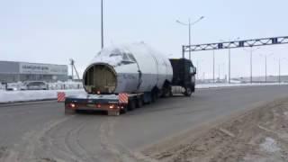 Кабина Ту-154 на трале