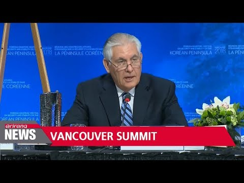 Twenty top diplomats show support for inter-Korean dialogue at Vancouver meeting
