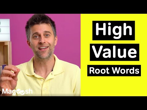 High Value Root Words - GRE Vocabulary Wednesday