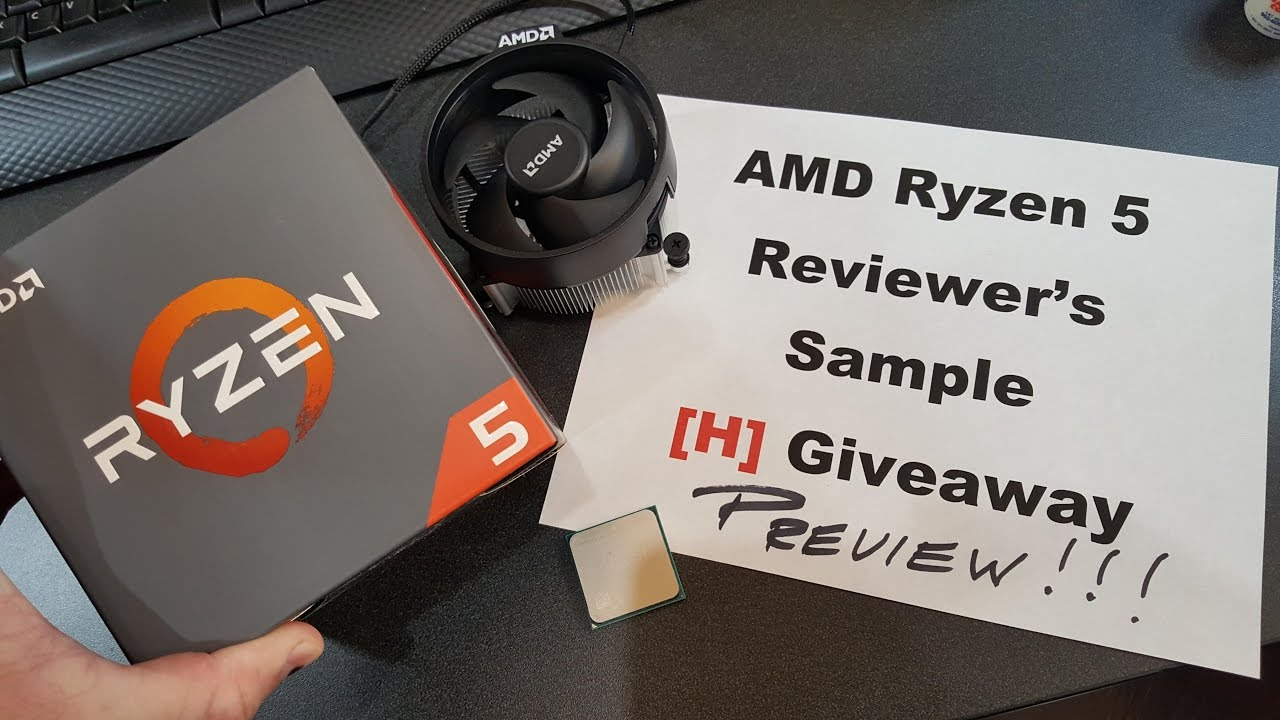 Ryzen 5 1600 Unboxing and Wraith Cooler Install plus Giveaway Preview