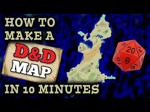 Make a D&D World Map in 10 MINUTES - Photoshop Tutorial thumbnail