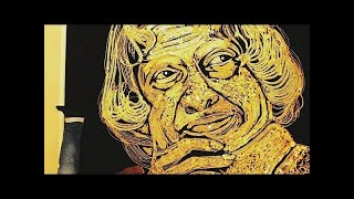 Created a Dr.apj Abdul Kalam's Portrait By Using Gold Ornaments   Kalams World Records