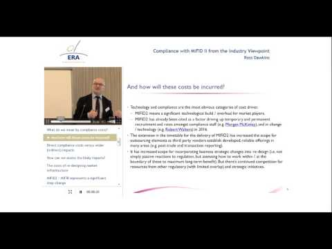 Compliance with MiFID II from the Industry Viewpoint