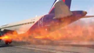 russian-plane-aeroflot-superjet-100-on-fire-during-an-emergency-landing,-sheremetyevo-airport-xp11