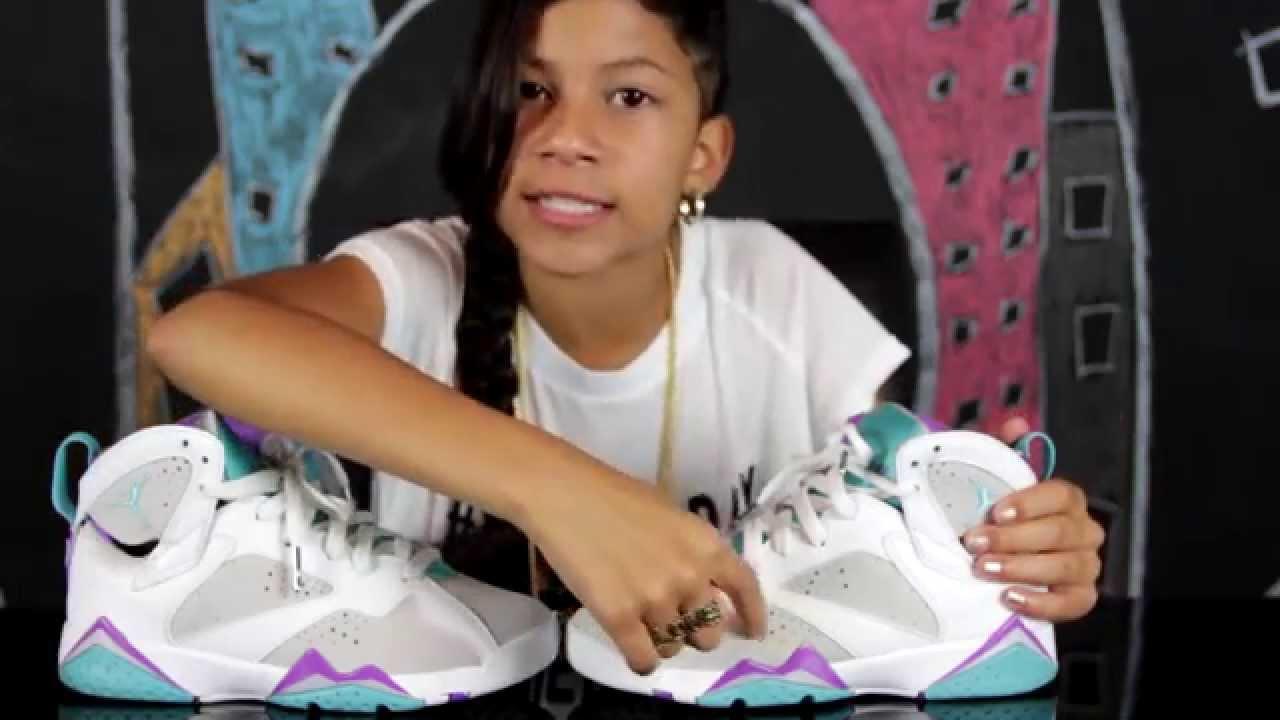 Baby Kaely Sneaker Review Air Jordan Mineral 7s Youtube