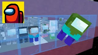 Monster School: All Mobs Became Among Us Challenge - Minecraft Animation