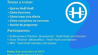Transmisión en vivo para la comunidad de habla hispana de Hodl Hodl