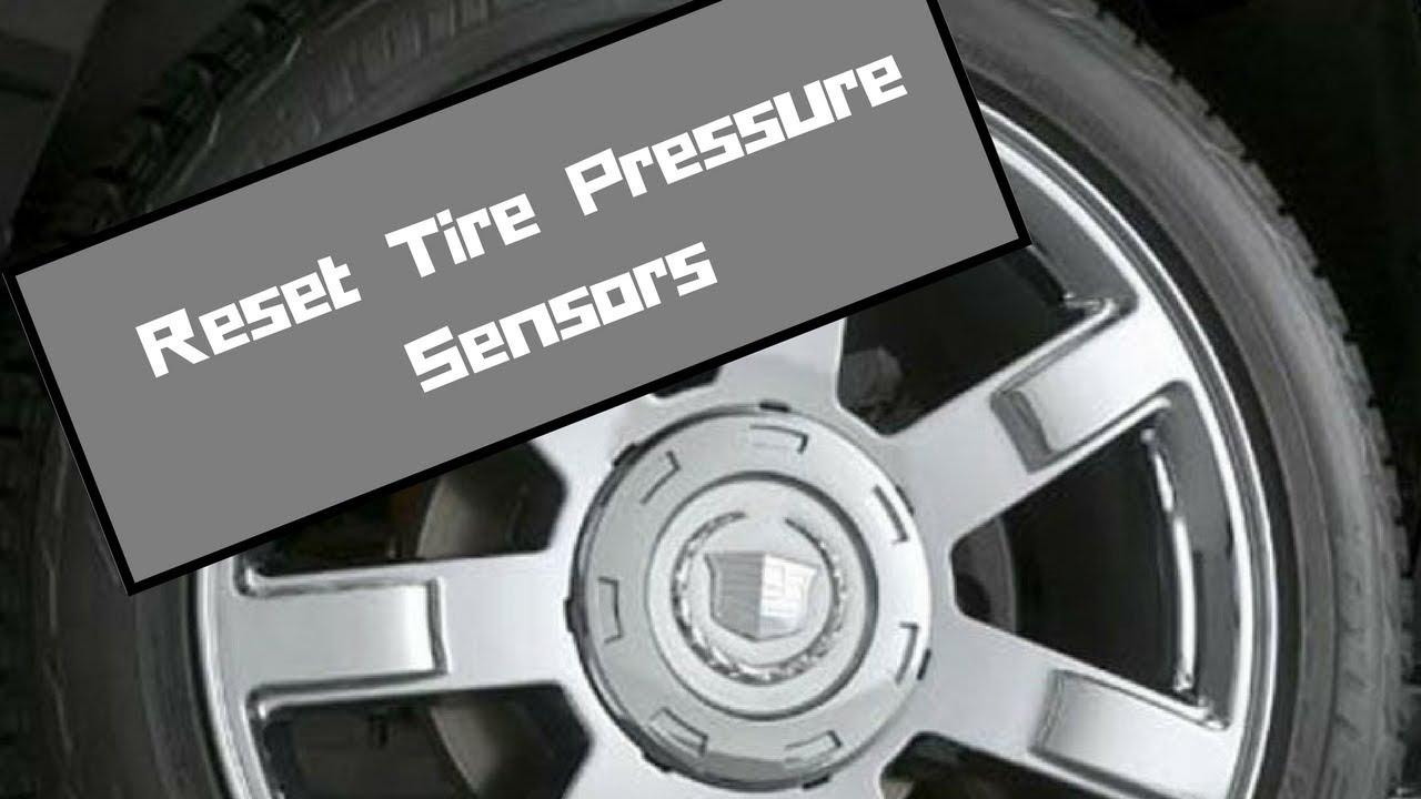 Escalade Tahoe Yukon Tire Pressure Monitor Sensor Reset - YouTube