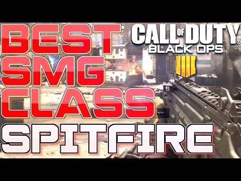 Best SMG CLASS in COD BO4! (SPITFIRE GUN IS OP) (Call of