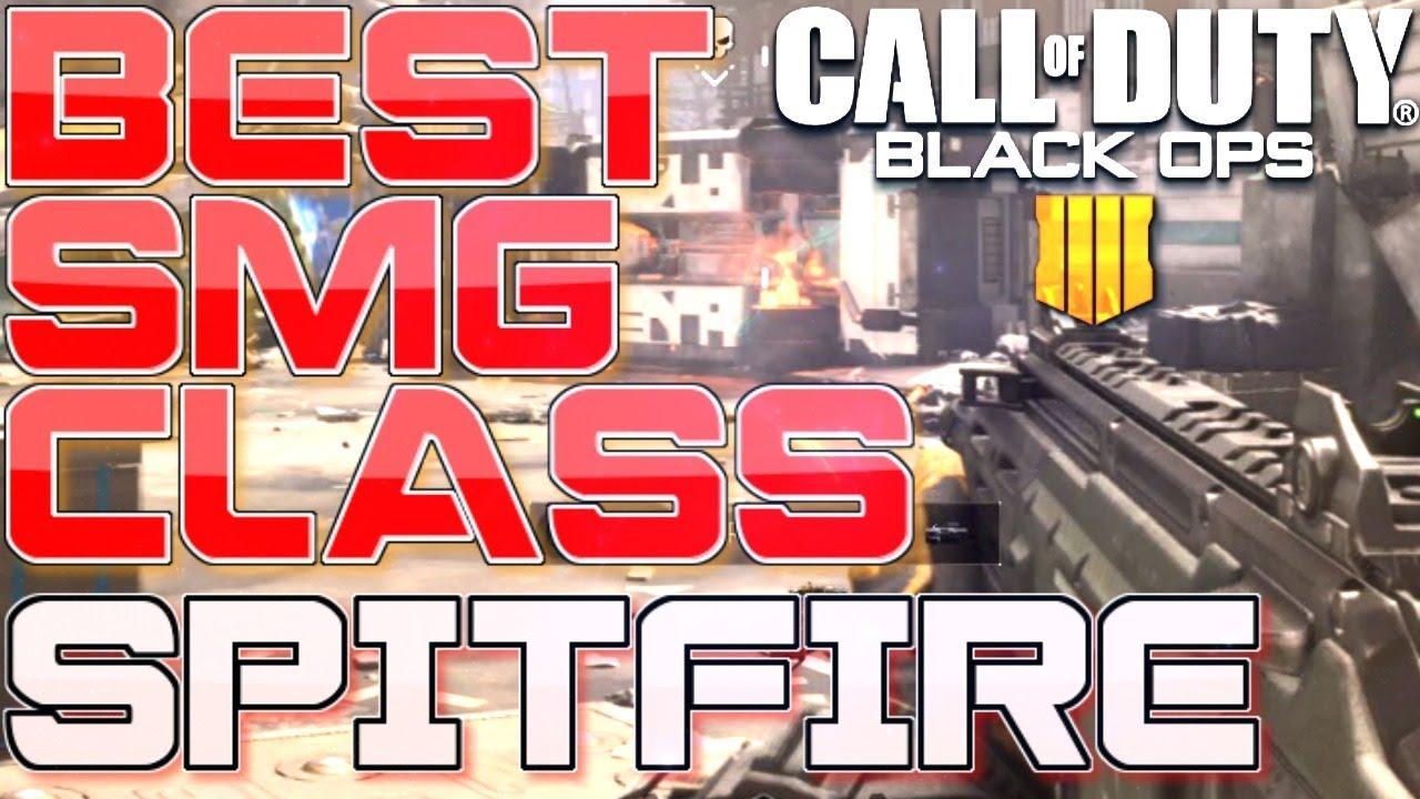 Best SMG CLASS in COD BO4! (SPITFIRE GUN IS OP) (Call of